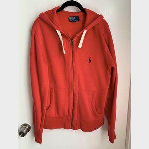 Mens Red Polo Ralph Lauren Front Zip Hoodie Jack M